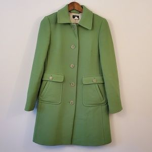 J. CREW green women's coat size 4